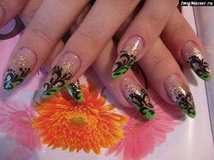 Наращивание ногтей акрилом октябрьское поле
